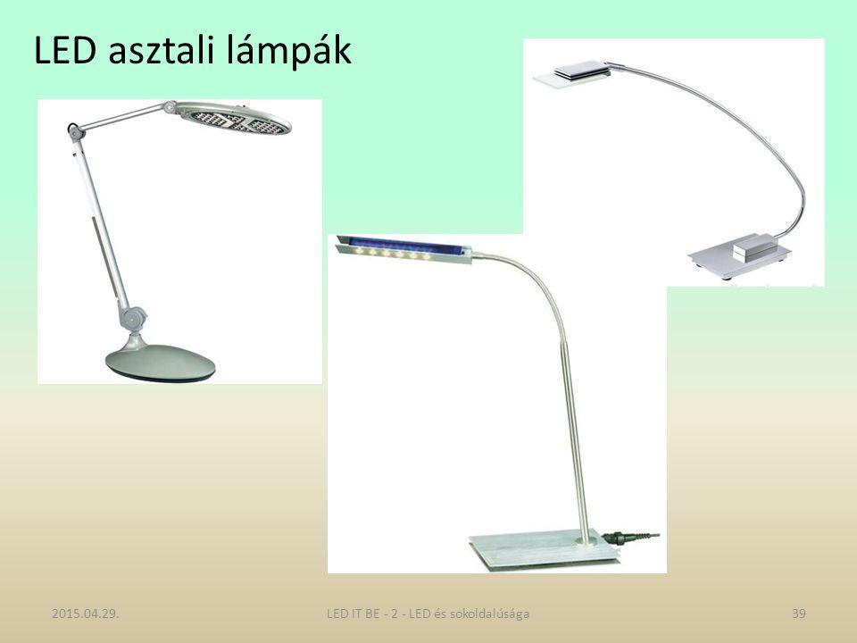 LED asztali lámpák 2015.04.29.39LED IT BE - 2 - LED és sokoldalúsága