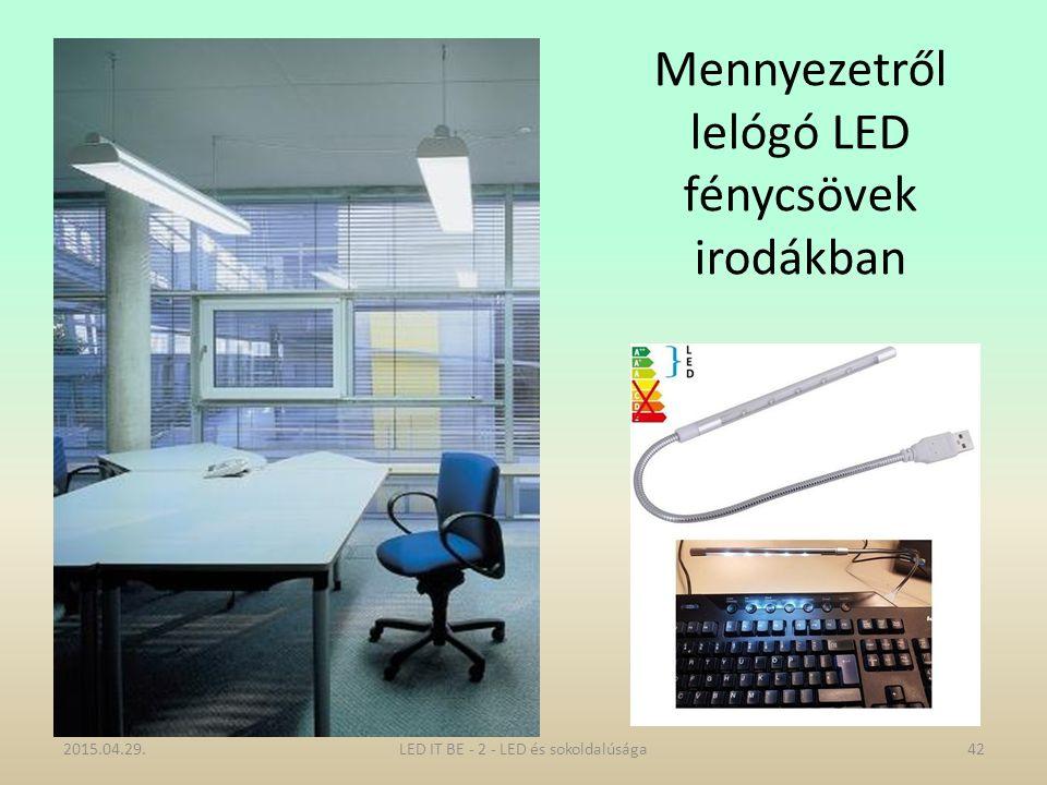 Mennyezetről lelógó LED fénycsövek irodákban 2015.04.29.42LED IT BE - 2 - LED és sokoldalúsága