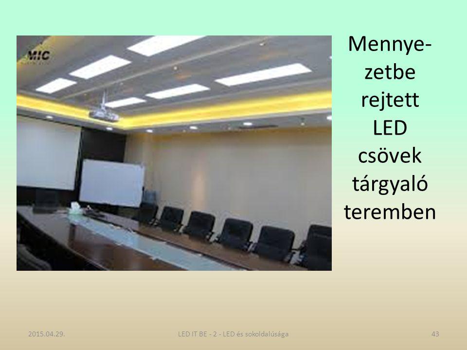 Mennye- zetbe rejtett LED csövek tárgyaló teremben 2015.04.29.43LED IT BE - 2 - LED és sokoldalúsága