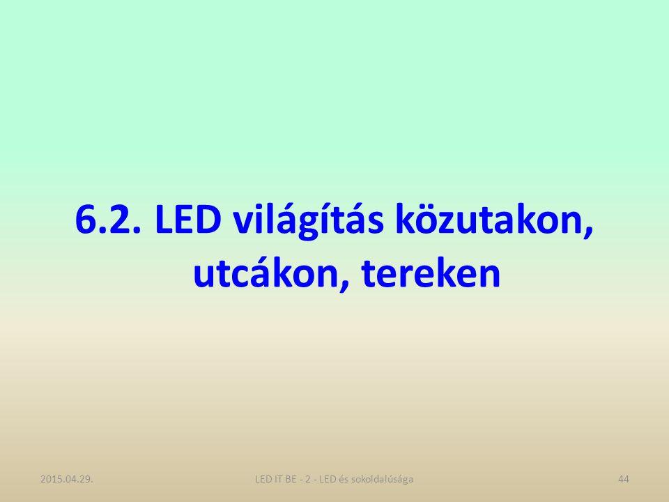 6.2. LED világítás közutakon, utcákon, tereken 2015.04.29.44LED IT BE - 2 - LED és sokoldalúsága