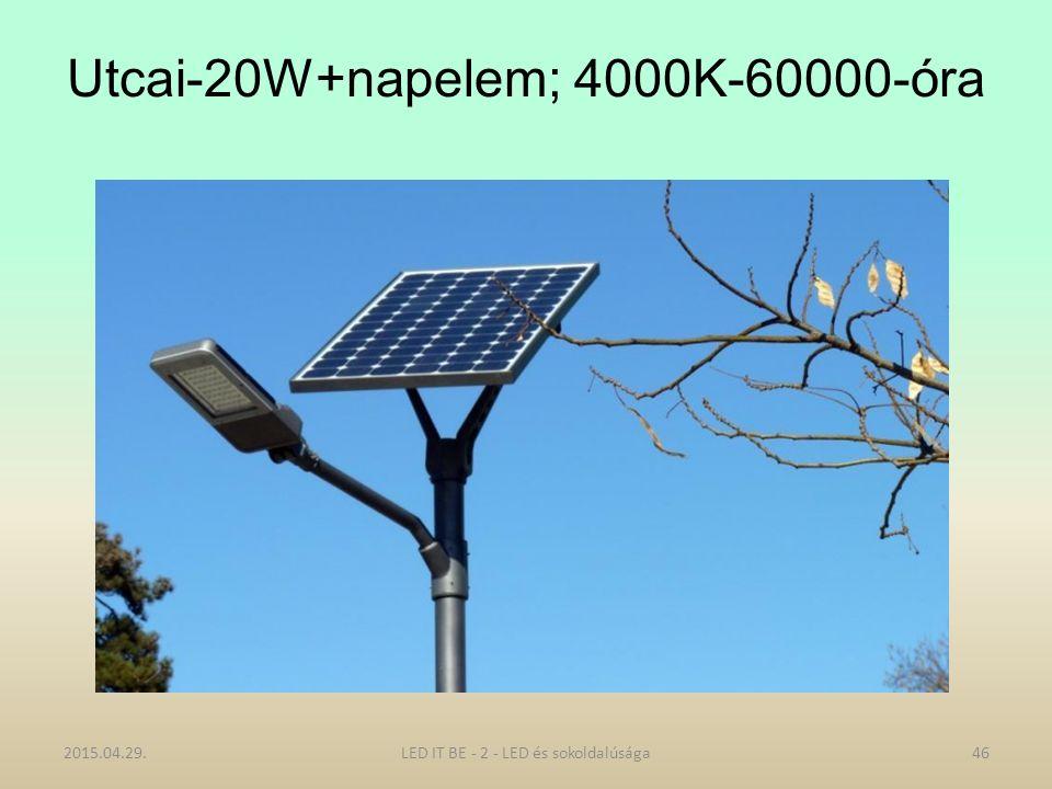 Utcai-20W+napelem; 4000K-60000-óra 2015.04.29.LED IT BE - 2 - LED és sokoldalúsága46