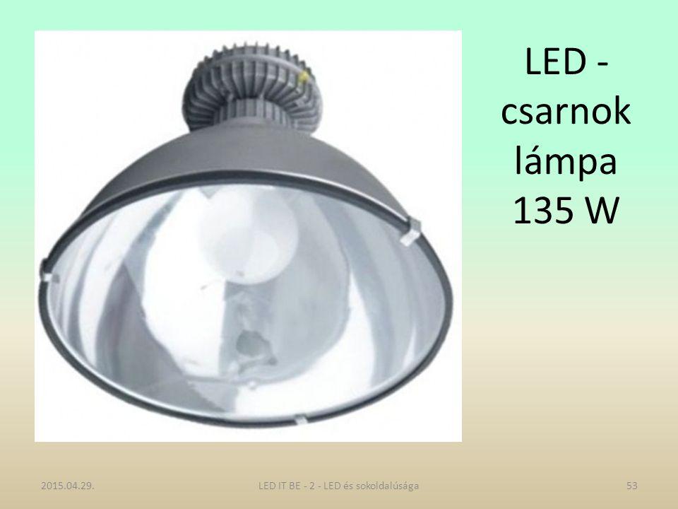 LED - csarnok lámpa 135 W 2015.04.29.53LED IT BE - 2 - LED és sokoldalúsága