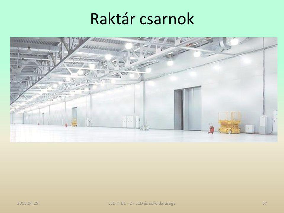 Raktár csarnok 2015.04.29.57LED IT BE - 2 - LED és sokoldalúsága
