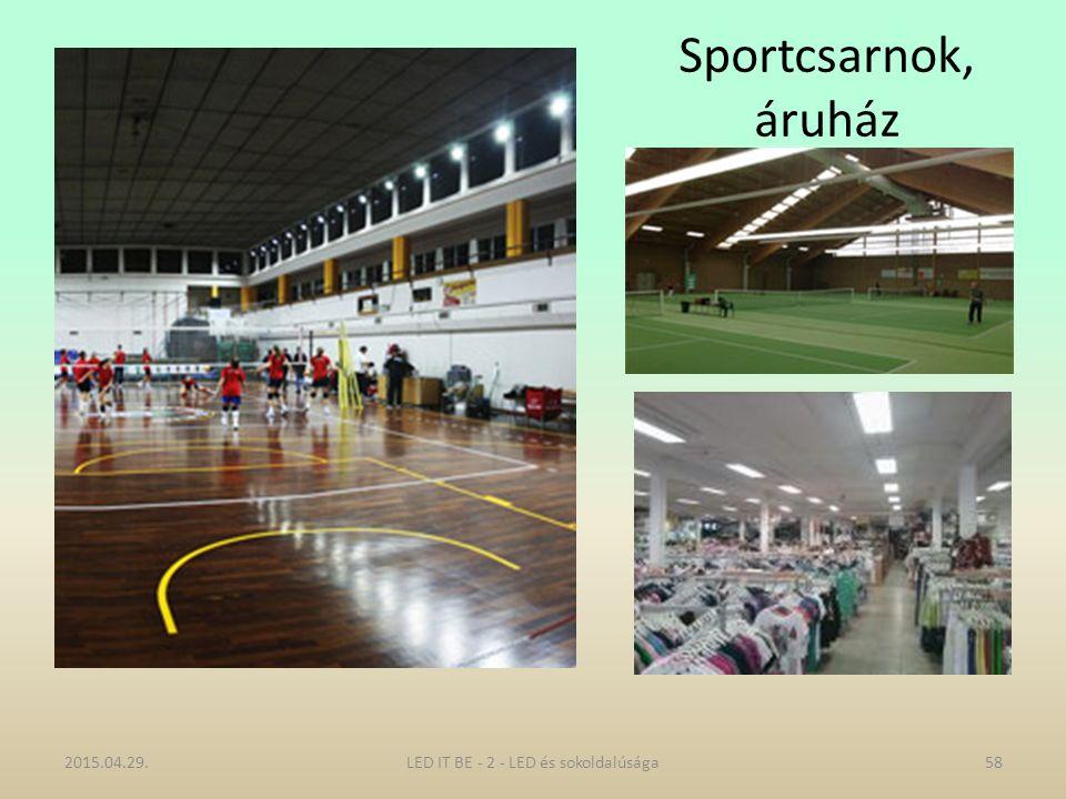 Sportcsarnok, áruház 2015.04.29.LED IT BE - 2 - LED és sokoldalúsága58