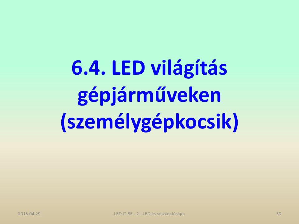 6.4. LED világítás gépjárműveken (személygépkocsik) 2015.04.29.LED IT BE - 2 - LED és sokoldalúsága59