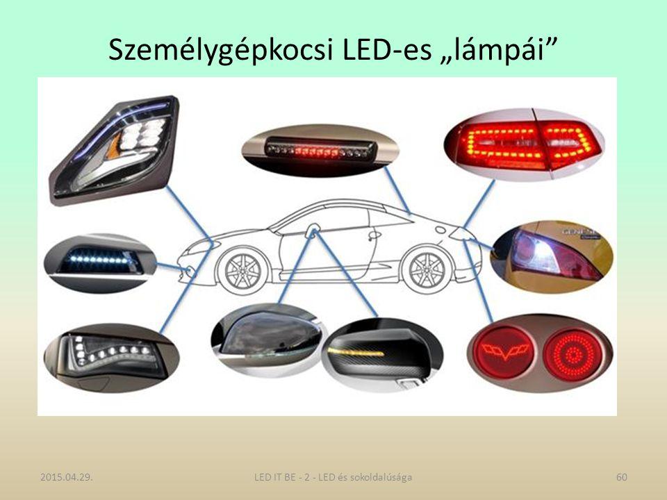 """Személygépkocsi LED-es """"lámpái 2015.04.29.LED IT BE - 2 - LED és sokoldalúsága60"""