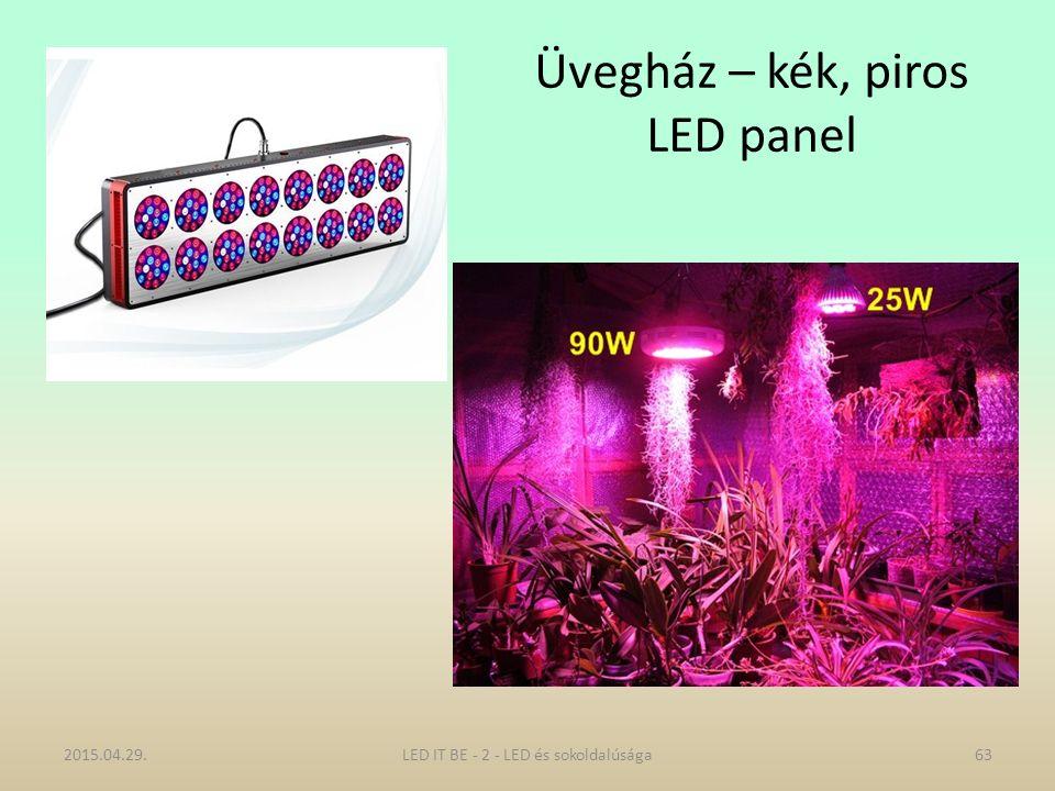 Üvegház – kék, piros LED panel 2015.04.29.LED IT BE - 2 - LED és sokoldalúsága63