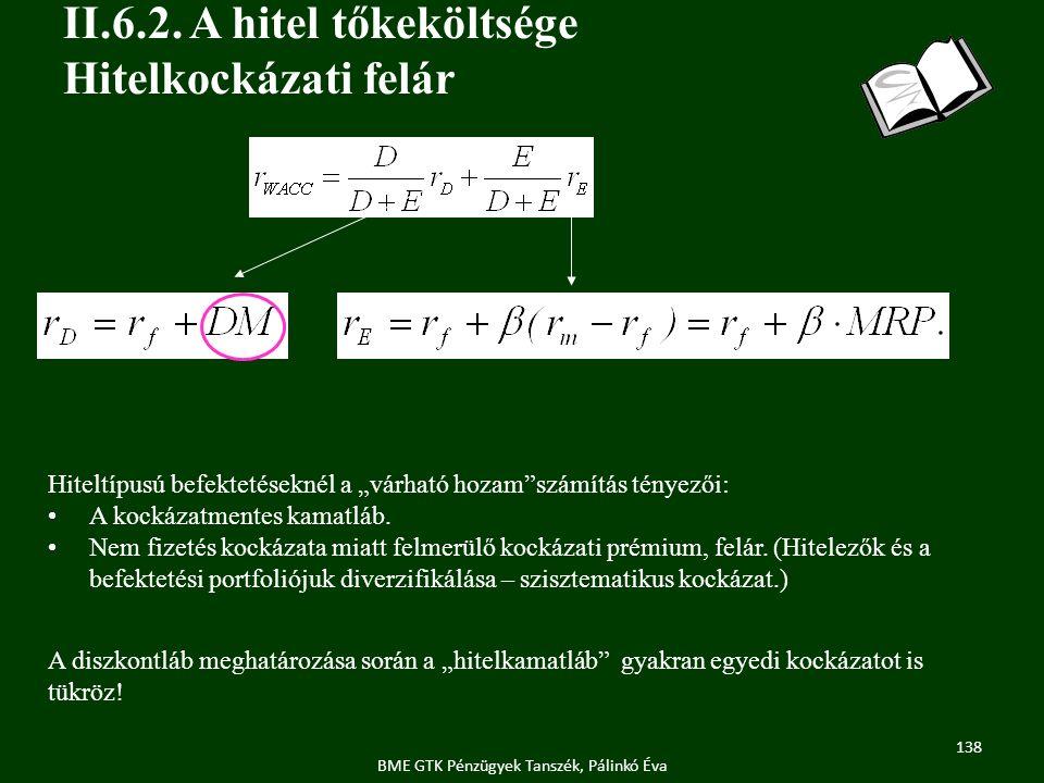 138 BME GTK Pénzügyek Tanszék, Pálinkó Éva II.6.2.