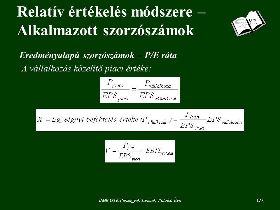 177 BME GTK Pénzügyek Tanszék, Pálinkó Éva 82.