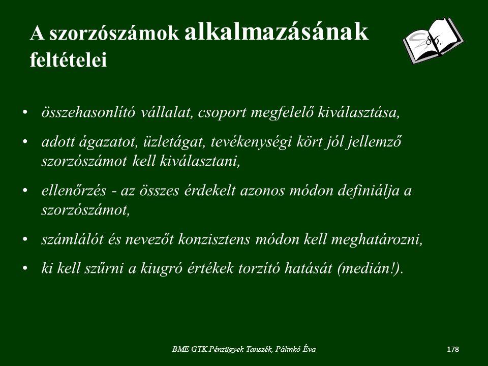 178 BME GTK Pénzügyek Tanszék, Pálinkó Éva 86.