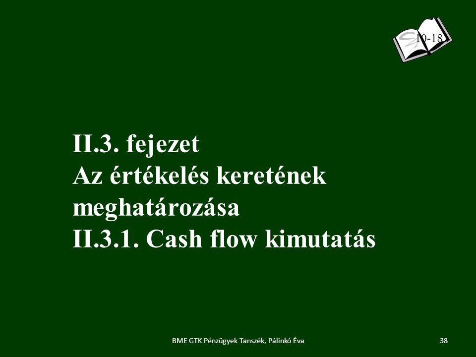 BME GTK Pénzügyek Tanszék, Pálinkó Éva II.3.fejezet Az értékelés keretének meghatározása II.3.1.