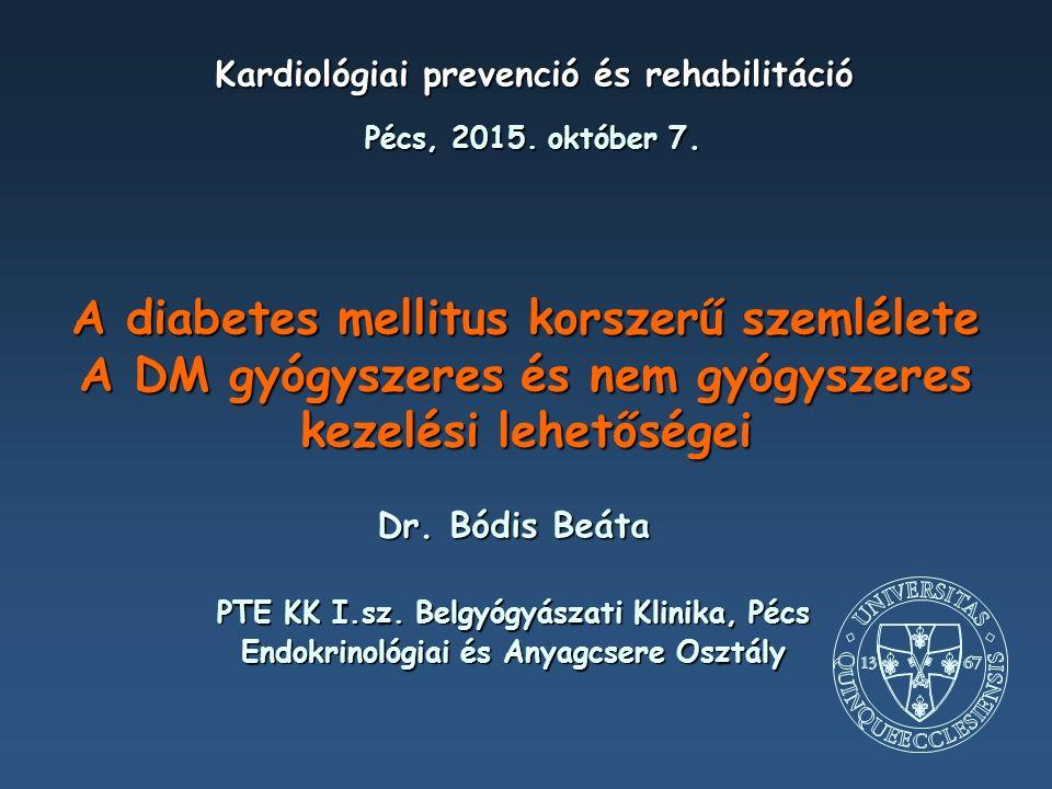 Az inkretinhatás csökkenése T2DM-ben a per os glükóz által kiváltott inzulinszekréció csökken oral glucose load isoglycaemic iv glucose Type 2 diabetic patients Control subjects 0 60120180 0 5 10 15 Glucose (mmol/l) 0 60120180 0 5 10 15 Glucose (mmol/l) Time (min) 0 120180 0 20 40 60 80 IR-Insulin (mU/l) 60 0 20 40 60 80 IR-Insulin (mU/l) Time (min) 0 60 120180 Adapted from Nauck M et al.