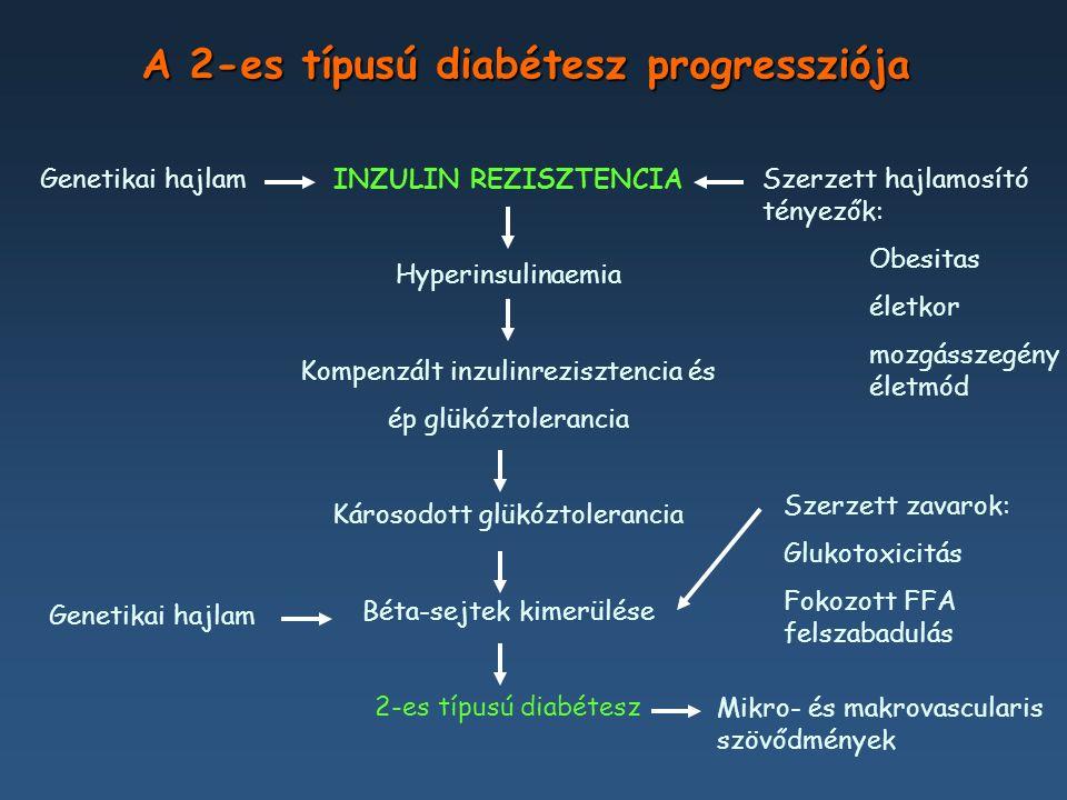 A HbA 1 c minden 1%-os csökkenésére Ennyivel csökken a kockázata * 1% DM halál 21% Miokardiális infarktus 14% Mikrovaszkuláris szövődmények 37% Perifériás artériabetegség / Diabéteszes láb 43% * p < 0.0001 UKPDS: a HbA 1 c 1%-os csökkentésének hatásai Stratton MI, et al.