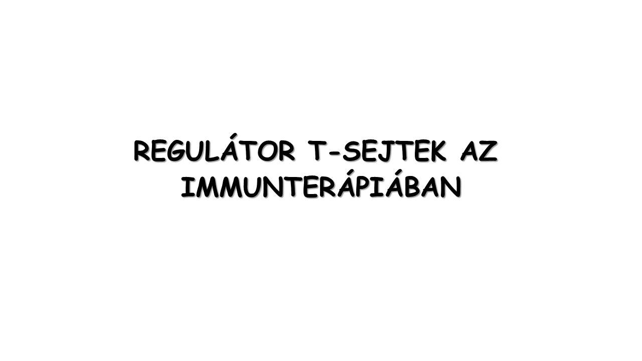 REGULÁTOR T-SEJTEK AZ IMMUNTERÁPIÁBAN
