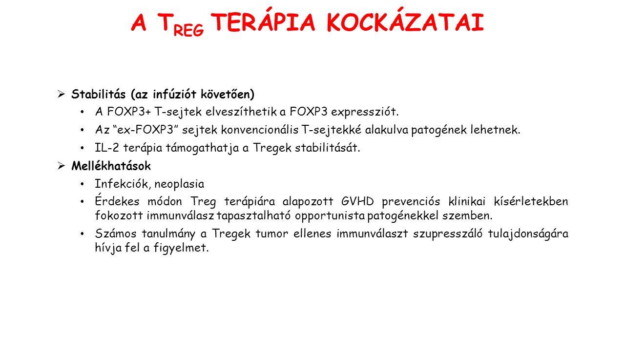 Stabilitás (az infúziót követően) A FOXP3+ T-sejtek elveszíthetik a FOXP3 expressziót.