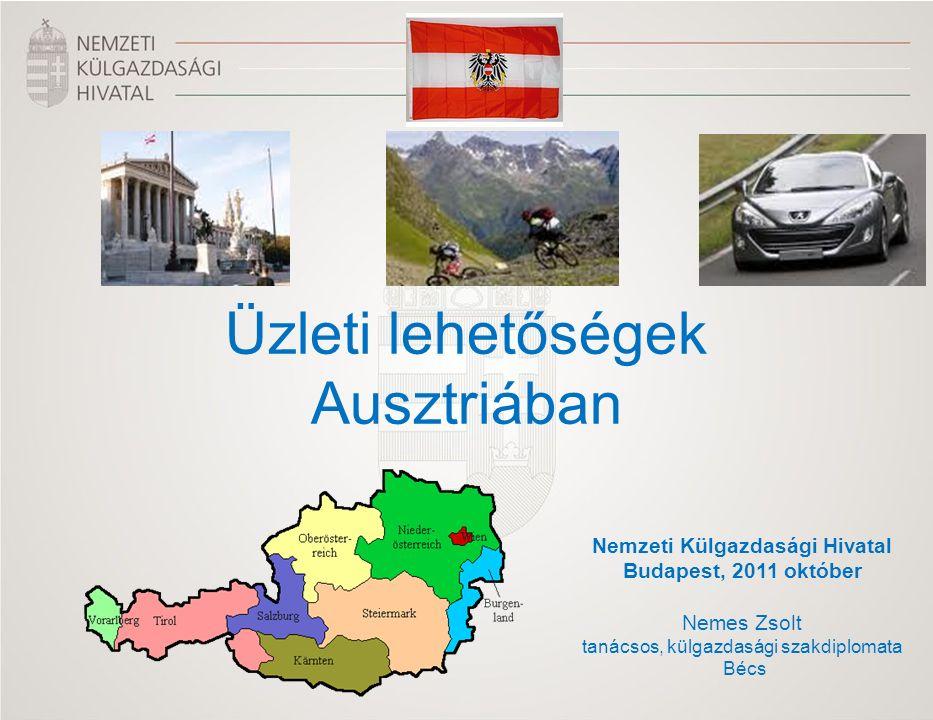 Nemzeti Külgazdasági Hivatal Budapest, 2011 október Nemes Zsolt tanácsos, külgazdasági szakdiplomata Bécs Üzleti lehetőségek Ausztriában