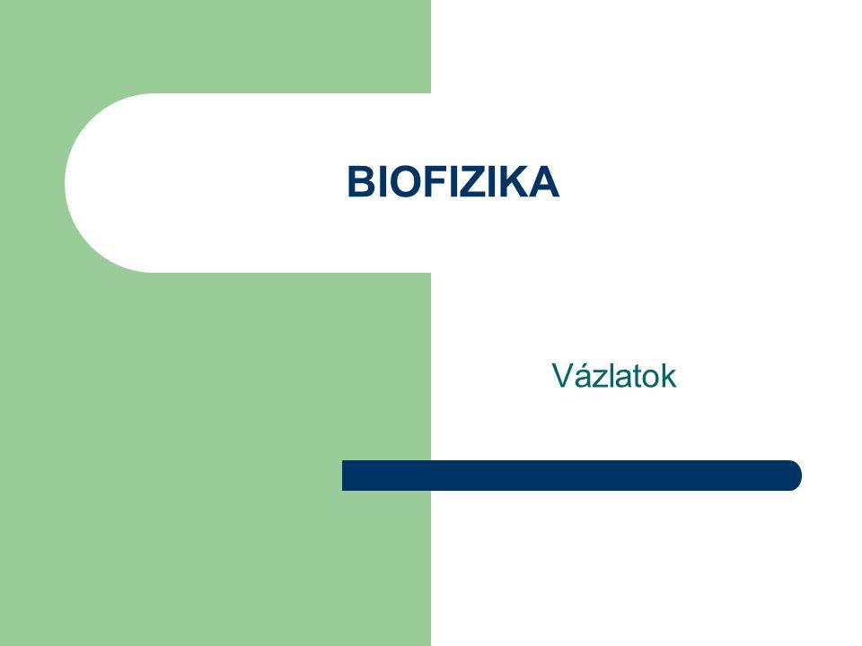 A biofizika helye a tudományok között A fizika neve az ógörög ϕ ιζισ [természet] szóból ered.