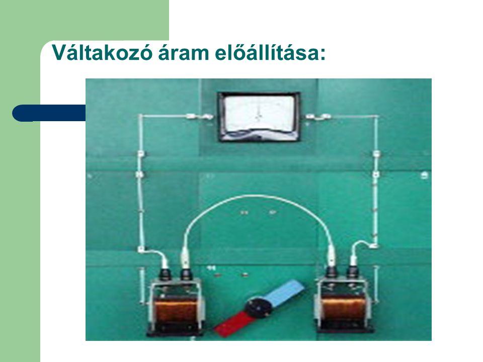 Váltakozó áram előállítása: