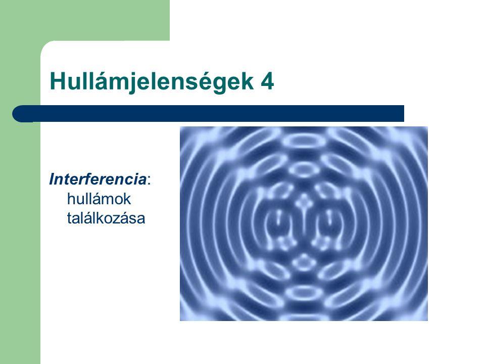 Hullámjelenségek 4 Interferencia: hullámok találkozása