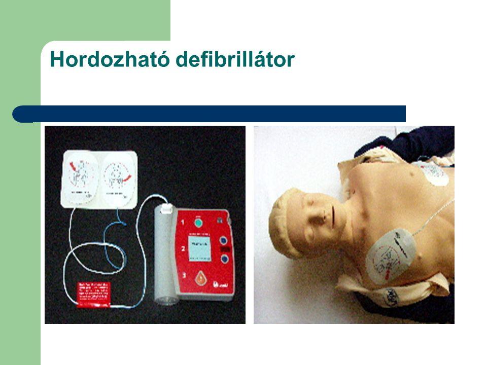 Hordozható defibrillátor