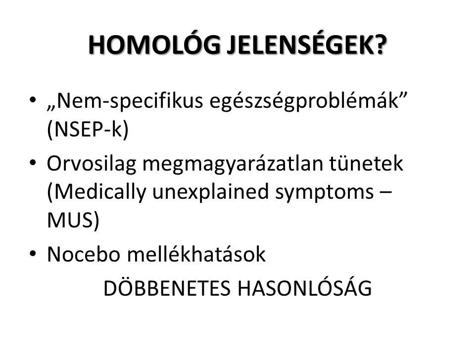 HOMOLÓG JELENSÉGEK.