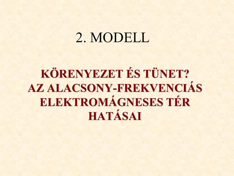 KÖRENYEZET ÉS TÜNET AZ ALACSONY-FREKVENCIÁS ELEKTROMÁGNESES TÉR HATÁSAI 2. MODELL