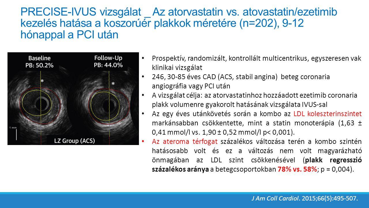 PRECISE-IVUS vizsgálat _ Az atorvastatin vs.