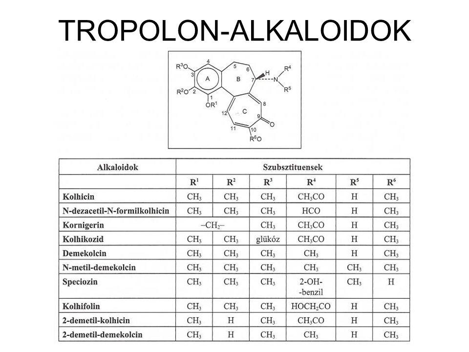 TROPOLON-ALKALOIDOK