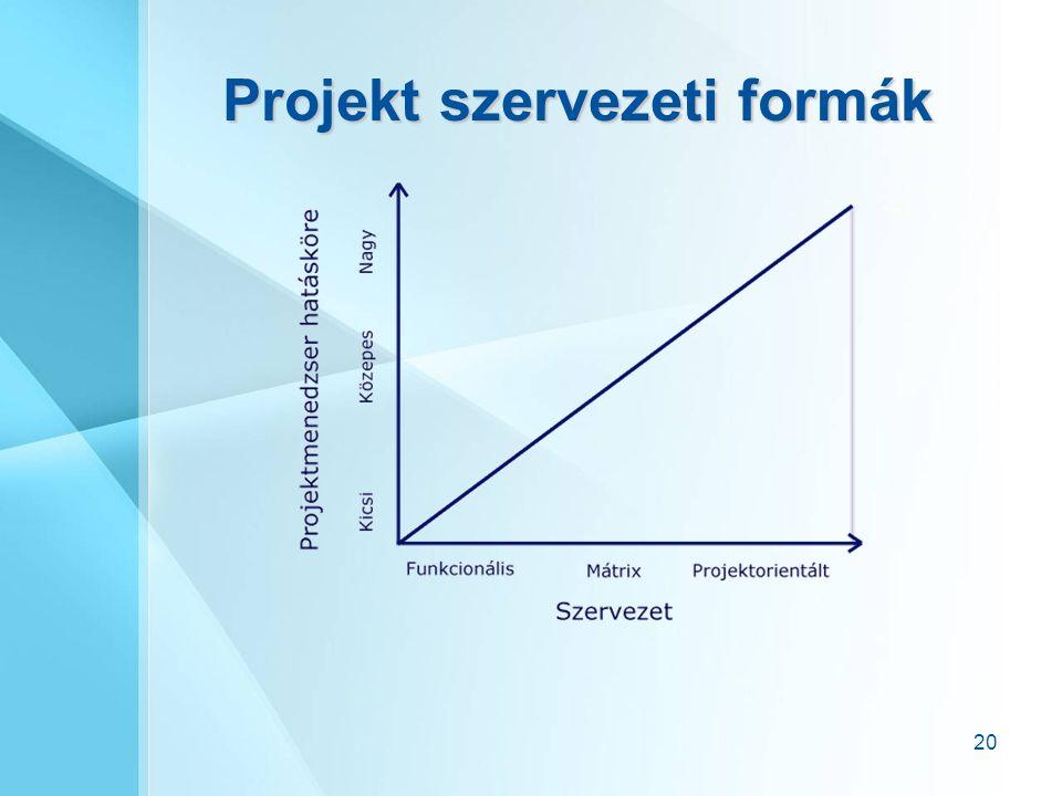 20 Projekt szervezeti formák