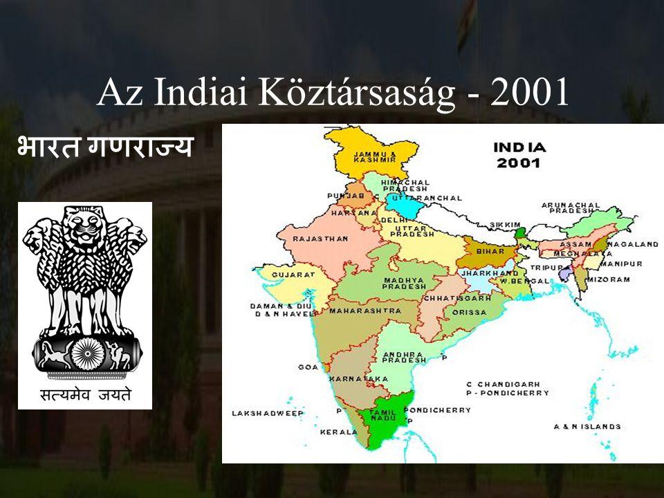 Önálló államok 1947: a kettéosztás: India és Pakisztán (Kelet és Nyugat).
