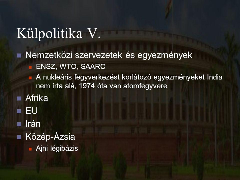 Külpolitika V.