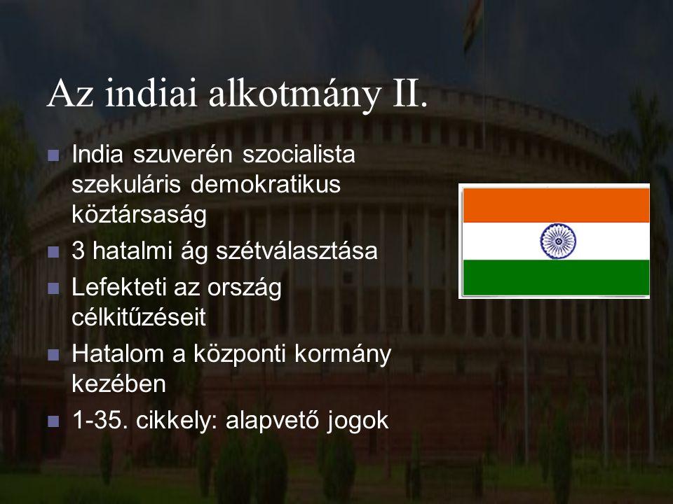 Az indiai alkotmány III.Közt.