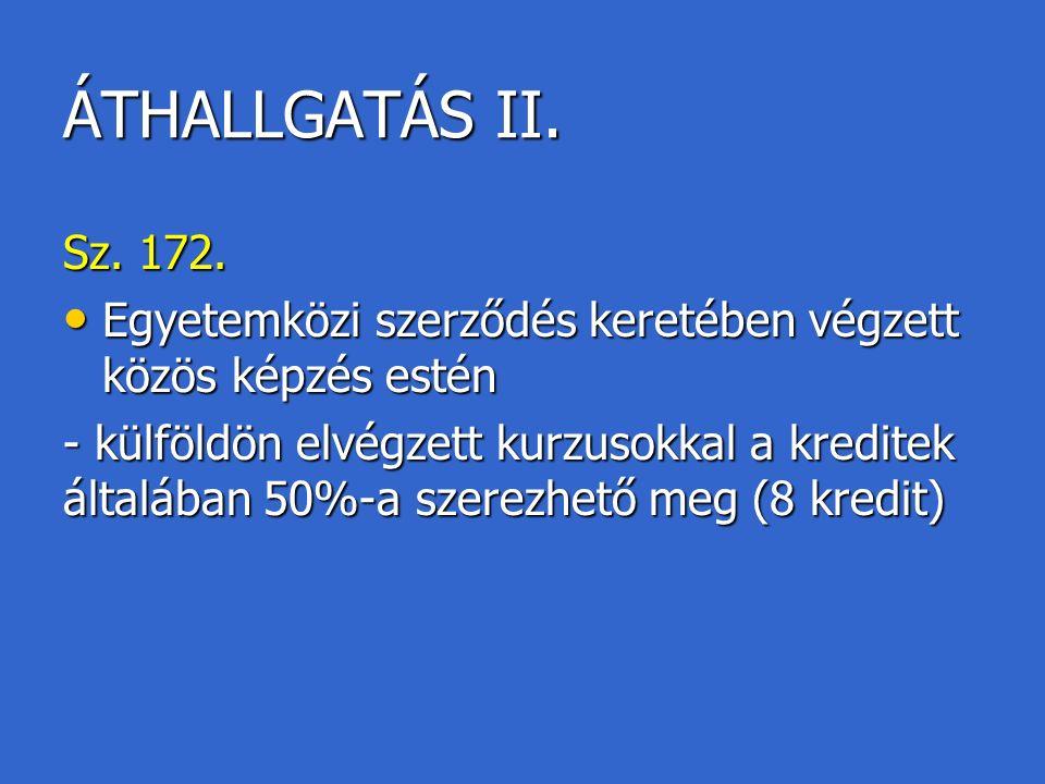 ÁTHALLGATÁS II.Sz. 172.