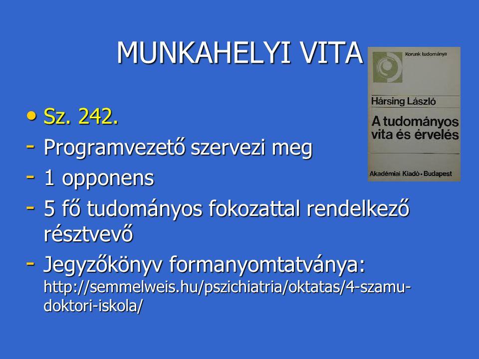 MUNKAHELYI VITA Sz. 242. Sz. 242.