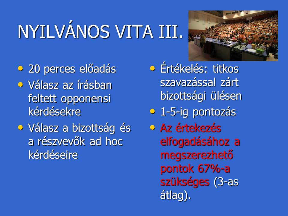 NYILVÁNOS VITA III.