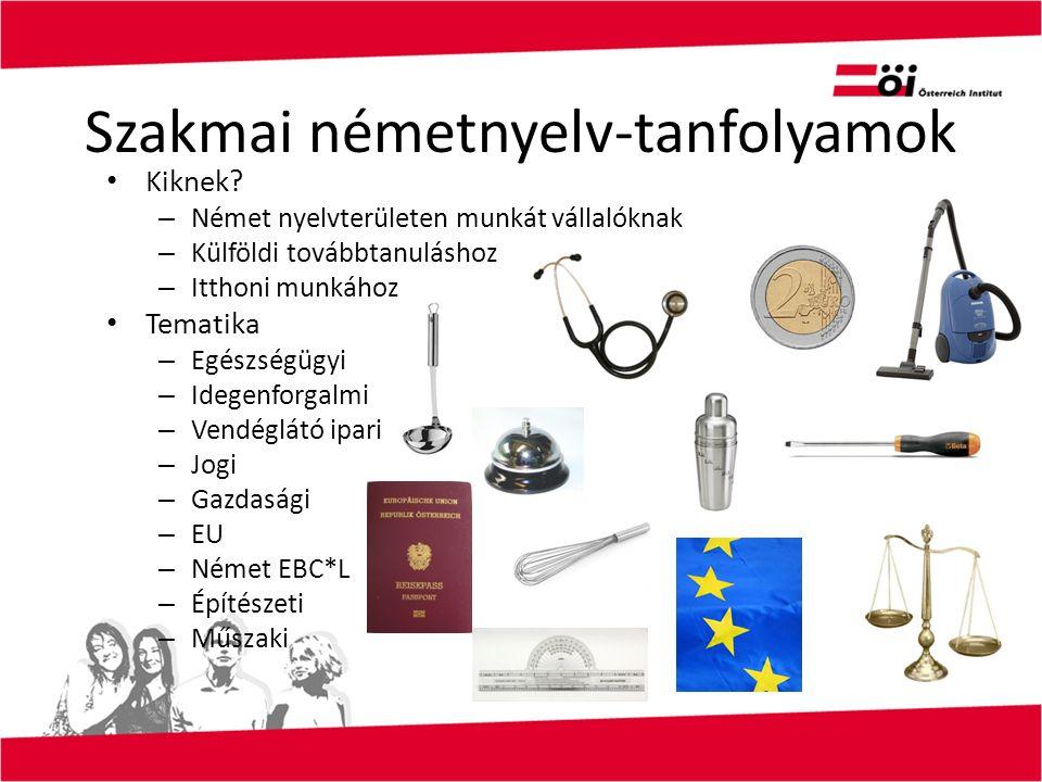 Szakmai németnyelv-tanfolyamok Kiknek? – Német nyelvterületen munkát vállalóknak – Külföldi továbbtanuláshoz – Itthoni munkához Tematika – Egészségügy