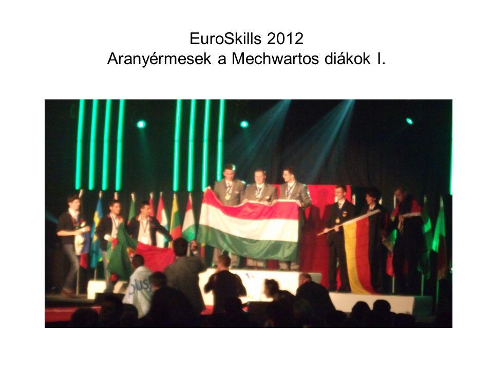 EuroSkills 2012 Aranyérmesek a Mechwartos diákok I.