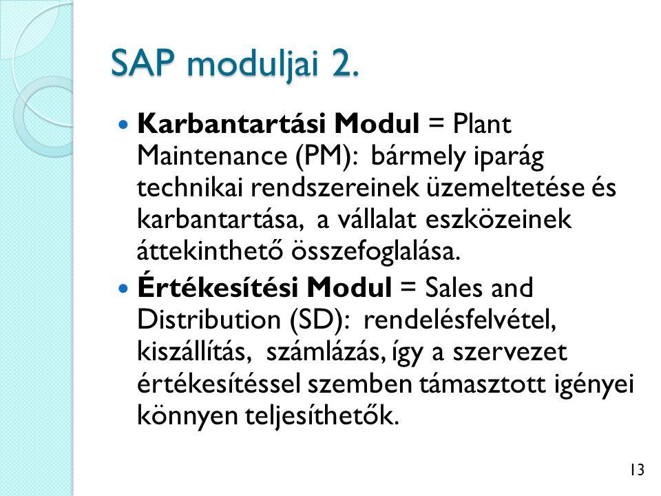 14 SAP moduljai 3.