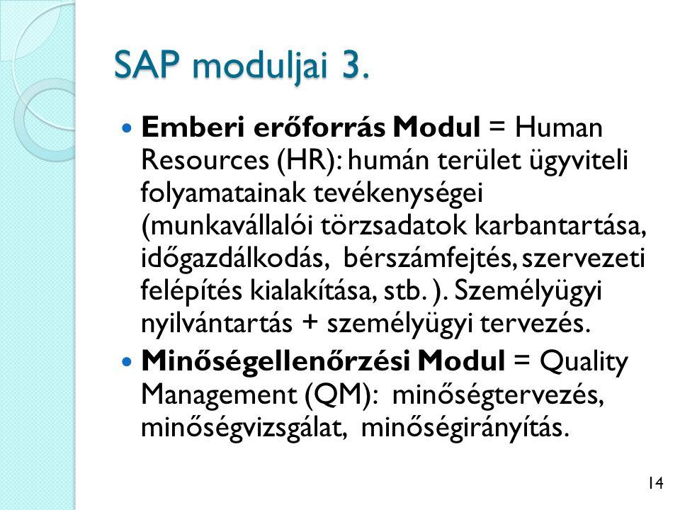 15 SAP moduljai 4.