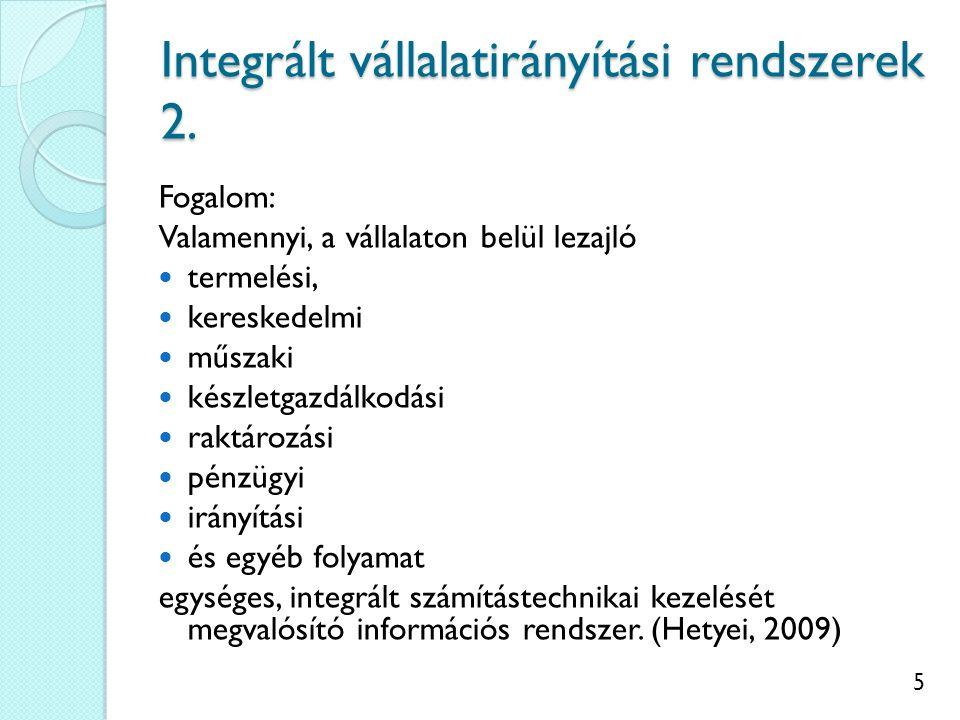 6 Integrált vállalatirányítási rendszerek 3.