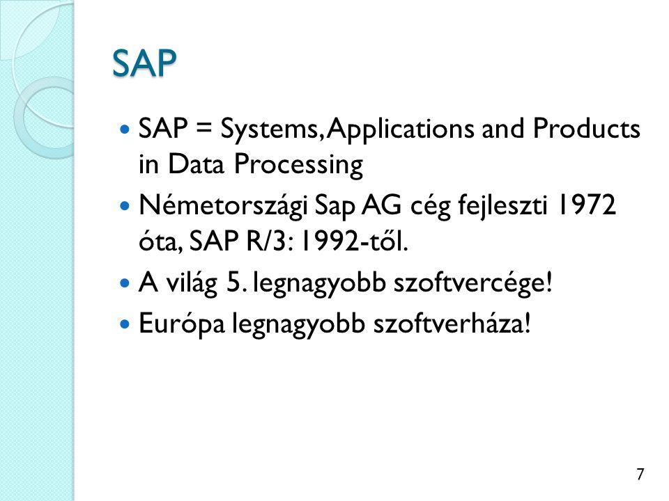 8 SAP R/3 általános jellemzői 1.