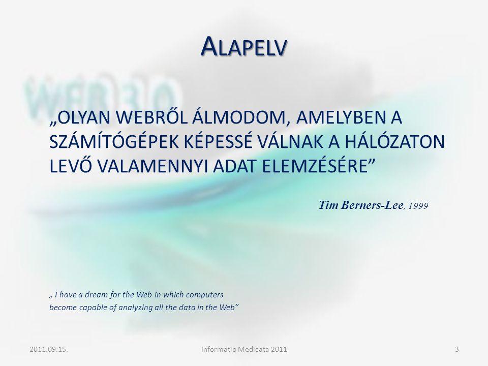 """A LAPELV """"OLYAN WEBRŐL ÁLMODOM, AMELYBEN A SZÁMÍTÓGÉPEK KÉPESSÉ VÁLNAK A HÁLÓZATON LEVŐ VALAMENNYI ADAT ELEMZÉSÉRE"""" """" I have a dream for the Web in wh"""