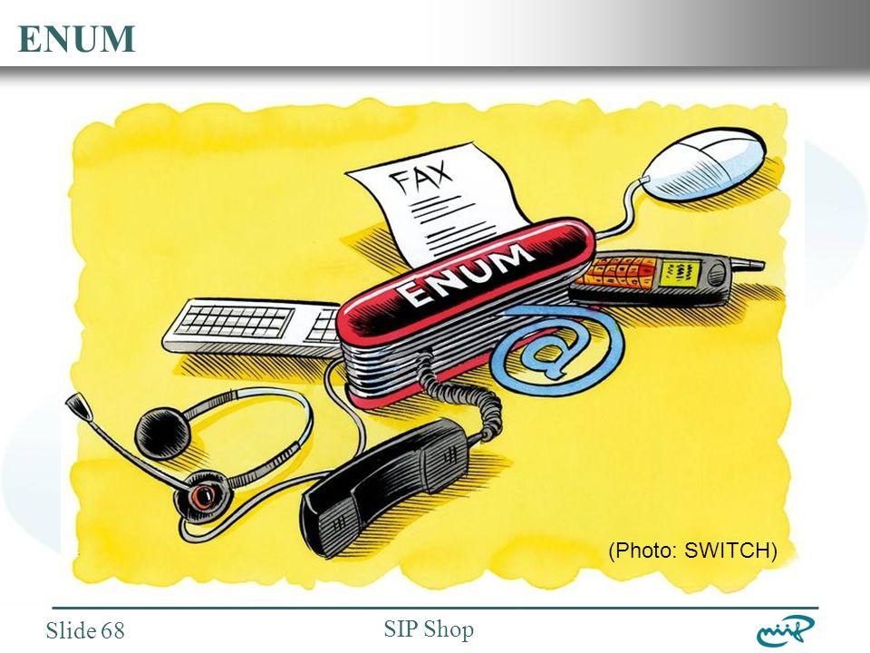 Nemzeti Információs Infrastruktúra Fejlesztési Intézet SIP Shop Slide 68 ENUM (Photo: SWITCH)