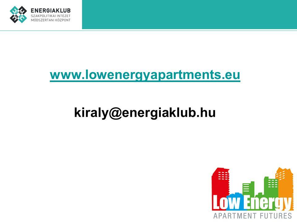 www.lowenergyapartments.eu kiraly@energiaklub.hu