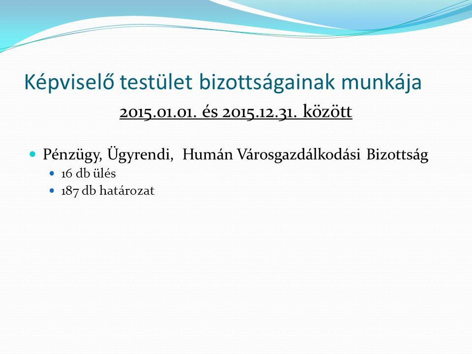 Képviselő testület bizottságainak munkája 2015.01.01.