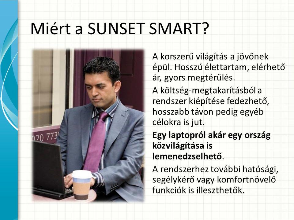 Miért a SUNSET SMART. A korszerű világítás a jövőnek épül.