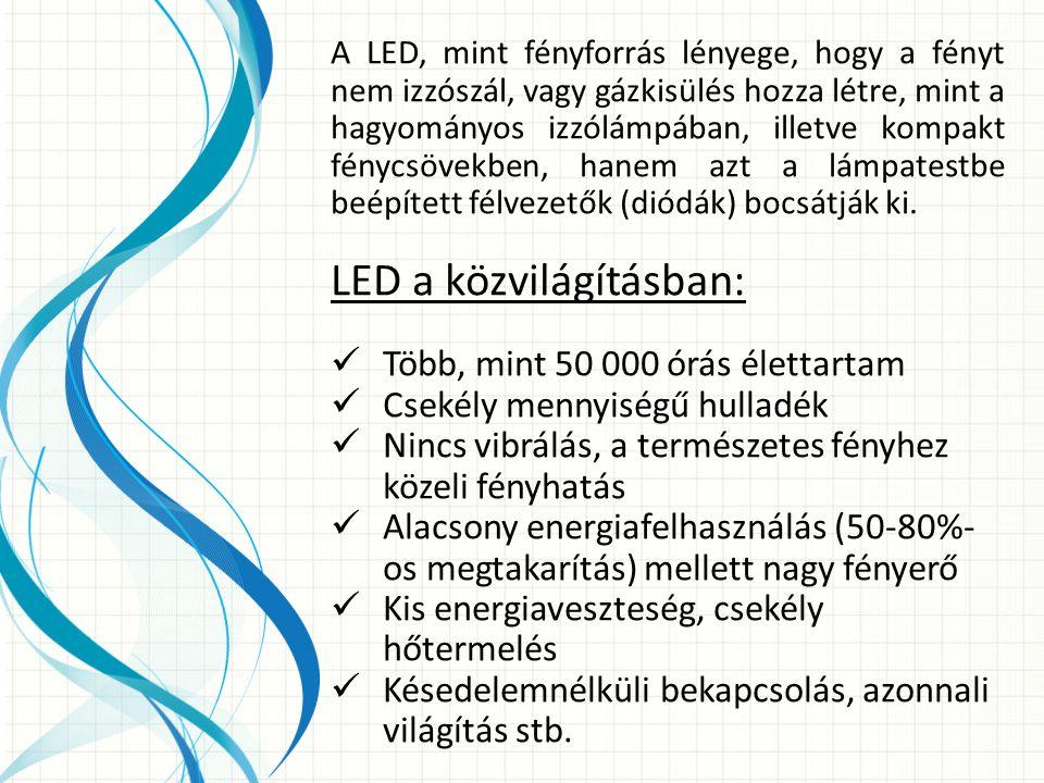 A LED tehát új, energia-hatékony technológia a világítástechnikában, mely töretlenül fejlődik.