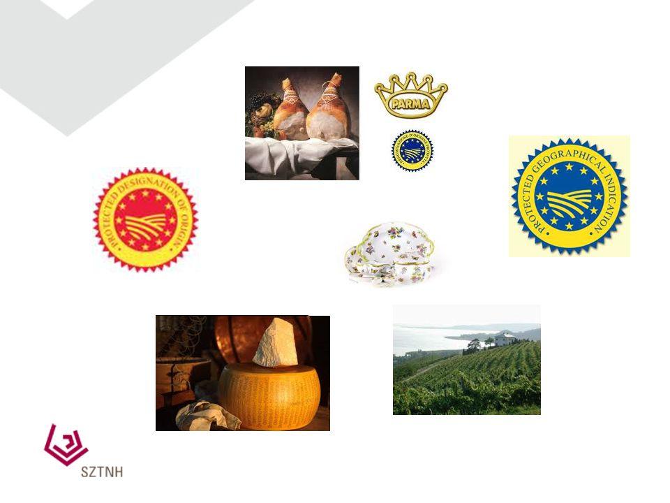 Eredetmegjelölések A termékek lényegében vagy kizárólag a megjelölésben szereplő földrajzi terület (régió, hely vagy kivételes esetben ország) által n