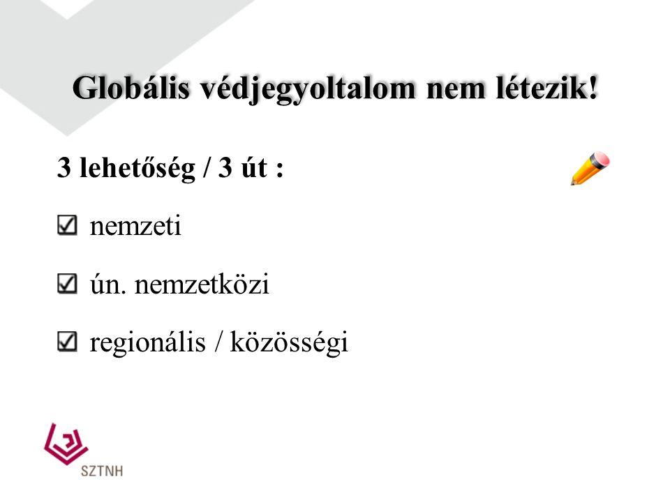 Oltalomszerzés külföldön A védjegyoltalom territoriális jellegű Az oltalom megszerzése előtt tisztázni kell: a megszerzett oltalom hasznosítását milye