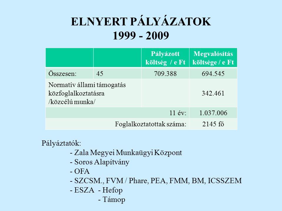 EREDMÉNYEK 2.sz.táblázat. A munkaviszony megszűnésének típusai 2009.